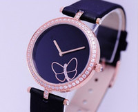 Wholesale ZH With Diamond Top quality Quartz Watches Fashion Wristwatch Leather Strap Model can mix Free Ship