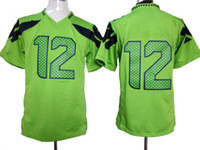 Wholesale Green Game Seahawks Jerseys Newest Fan Football Jersey Discount Fashion Stitched American Football Team Jerseys Christmas Sportswear