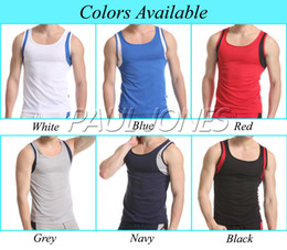 Wholesale Sexy Mens Home Sports Underwear Tank Top Size S L CL4886