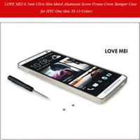For HTC Metal For Christmas Luxury 0.7mm -thin Aluminum Metal Alloy Bumper Frame Case for HTC One Max T6 13 Colors