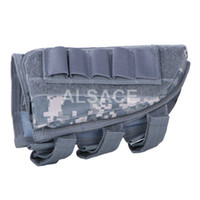 Wholesale Outdoor Tactical gear Polyester Wargame and Airsoft equipement ALA Tactical Stock Butt Pouch