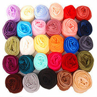 Wholesale Candy Color Woman Scarves Autumn Spring Fashion Shawl Scarf Soft Ruffled Silk Neck Scarf RD1101