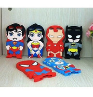 Cartoon Superhero Comics Soft Silicone Rubber Case For ipod ...