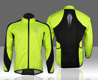Wholesale WOLFBIKE Men s Fleece Thermal Cycling Long Sleeve Jersey Winter Outdoor Sports Jacket Windproof Wind Coat Bicycle Cycle Wear