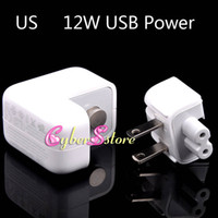 Universal Direct Chargers  High Quality 12W 2.4A US White USB Power Wall Charger Adapter &Retail Package For ipad mini, ipad air 5, iphone 4 5s Samsung