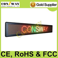 Wholesale led scrolling sign panel with RGY color and size cm W cm H cm D