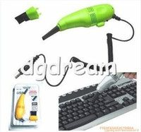Vacuum Cleaner Keyboard  New high quality Mini Computer Vacuum Black Small USB brush flexible rubber keyboards cleaner for for PC Laptop Computer with retail box