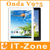 Wholesale Onda V975M Retina tablet IPS x1536 inch android quad core GB RAM GB ROM Dual camera tablet