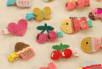 Blending bb clips - Hand woven BB clip hairpin baby girls hair pin clips baby headdress hair clip