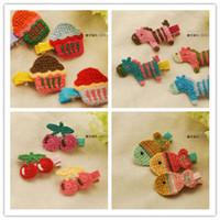 Barrettes Blending Animal Cartoon children hand-woven BB clip hairpin George pig hairpin baby girls hair pin clips baby headdress Hair Accessories