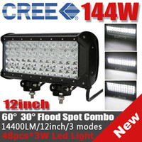 Wholesale 12 quot W CREE LED W Work Light Bar Off Road SUV ATV WD x4 Spot Flood Combo Beam lm V IP67 JEEP Truck Boat Fog Lamp Quad Row