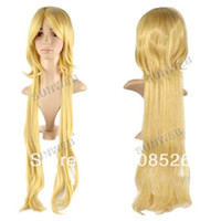Wholesale Hot Sell Stylish cm Long Blonde Cosplay Straight Synthetic Hair Wig