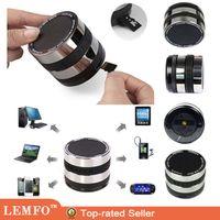Wholesale Vogue Bass Wireless Speaker Mini Portable Bluetooth Handsfree Speaker Camera Lens Design For iphone Samsung