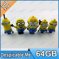 Wholesale 64GB Despicable me usb flash drive D Cartoon gift giving D040 T022Q