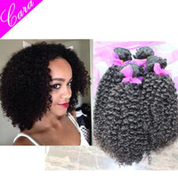 Curly Brazilian Hair Hair Extension CARA hair products Brazilian Peruvian Malaysian Indian Mongolian virgin hair afro kinky curly hair extensions 4 or 5pcs lot can be dyed