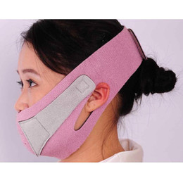 Wholesale S5Q New Anti Wrinkle Half Face Lift V Face Line Slim Up Slimming Cheek Mask Strap Belt AAACQS