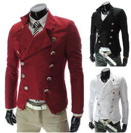The new men's fashion Slim double-breasted suit jacket