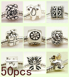 Wholesale Jewellery Sterling Silver beads charms For European Bracelet Mix