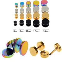 Wholesale Stainless Steel Fake Cheater Ear Plugs Gauge Illusion Body Jewelry Pierceing BB158 BB161