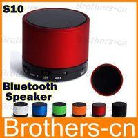Wholesale S10 Wireless Bluetooth Mini Portable Speaker Handfree Subwoofer Speaker For iphone s c s HTC Samsung Phone MP3 HiFi MIC TF Card