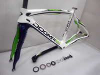 Wholesale 2014 brand new road bike frame Pinarello Dogma THINK2 carbon road bike frameset bicycle frame green painting full carbon fiber frameset