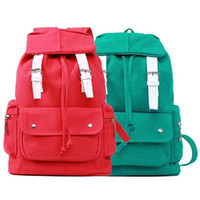 Wholesale S5Q Candy Color Women Girls Backpack Bookbags Travel School Shoulder Bags New AAACAP