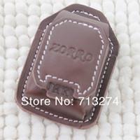 leather oil lighter - Oil Lighter Leather Sheath For Oil Cigarette Lighters Black Brown Gift