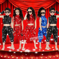 Wholesale New Boys and Girls Modern Hip hop jazz Dancewear Performance Clothing Halloween Costumes