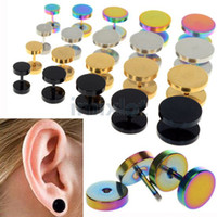 Wholesale 30X Stainless Steel Fake Cheater Ear Plugs Gauge Illusion Body Pierceing Jewelry color U choose BB158 BB161