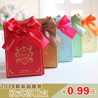 Wholesale Sweet live upscale European style candy box Creative candy packaging wedding supplies wedding candy box New