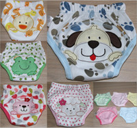 dog diapers - 100 Cotton Baby Training Pants Toddler Animals Designs Underwear Kids summer panties Diapers Waterproof lion cat ladybug dog age M