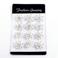 Wholesale New Fashion D Bouquet Brooch silver Rhinestone Holiday Party Gift Children Brooches Pins