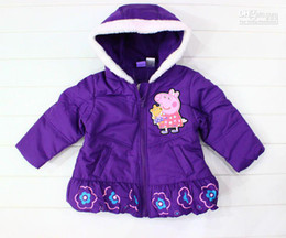 Wholesale children kids winter clothes peppa pig Padded cotton outerwear down coats