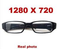 Wholesale spy P HD video glasses Eyewear Video Voice Recorder HD Mobile Spy Glasses Camera DV DVR mini dv