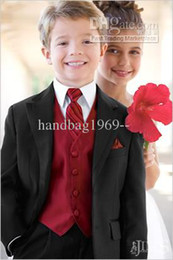 Wholesale Custom Made Black Boy s Formal Occasion Children Wedding Suit Boys Attire A35