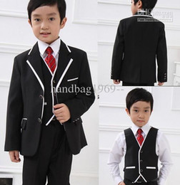 Wholesale Custom made New Woolen Suits Boy s Attire With Free Necktie And Kerchief A32