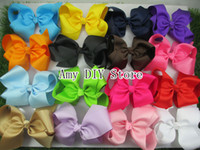 ribbon barrette for sell - baby hair accessories big ribbon hair bows with clip hot selling bows for girl baby hairpins boutique hair bows princess pcsHJ008 cm