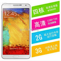 Wholesale Free for Note3 Android4 Quad Core MTK6589 Smart Phone Air Gesture G RAM G ROM With Inch HD Screen G GPS N9000 Phone