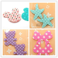 Wholesale children bowknot lady head bang hair STICKER Decorative cartoon style Hair stickers magic lovely hair decoration kids hair clip accessories