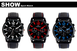 Wholesale Men Causal SPORT Military Pilot Aviator Army Silicones Racer Watch GT Brand Silicone Brand Hot Sale GT02