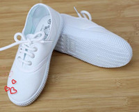 Unisex baby girl fitness - Kids canvas shoes white students shoes years children Girls Boy athletic Shoes Baby antiskid shoes