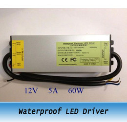 12V 5A 60W Waterproof LED Driver Power Supply Outdoor 2pcs