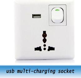 10pcs USB Wall Power Supply Wall plugs \ usb multi-charging socket   usb universal socket 110V-220V