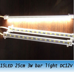 10pcs led rigid strip light 15led   25cm 3W led bar lights DC 12V