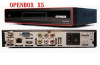 Wholesale Openbox X5 HD full p Satellite Receiver support Youtube Gmail Google Maps Weather CCcam Newcamd DHL Free