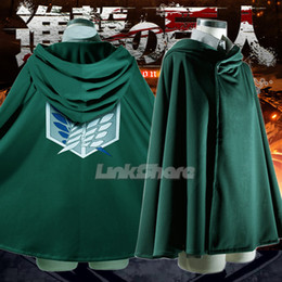 Wholesale Attack on Titan Shingeki no Kyojin Scouting Legion Cosplay Cloak Cape Eren Jaege