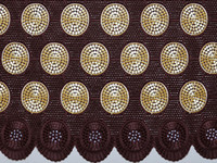 Wholesale The best smooth Cotton Lace Swiss Voile Lace African Lace Fabric with Holes African Apparel High Quality coffee
