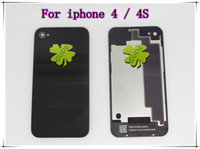 Wholesale For iphone G GS S Glass Back Housing Battery Door Cover Black And White Color High Copy DHL EMS