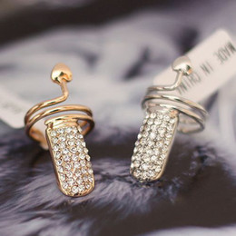 Wholesale High Quality Personality Crystal heart nail Rings Fashion Rings Jewelry