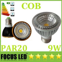 Wholesale PAR20 E27 E26 GU10 Led COB Bulbs Light W Lumens Warm Pure Cool White Dimmable Led Spotlights Angle V CE ROHS CSA UL